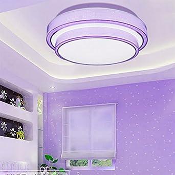 Schon Lonfenner Deckenleuchte Drei Farbe Licht Schlafzimmer Runde Minimalist  Modern Home Master Schlafzimmer Lampen Und Laternen 41Cmwarm
