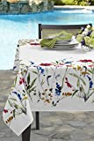 Wild Flower Indoor/Outdoor Spillproof Tablecloth (60″ X 120″ Rectangular)