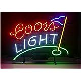 Coors Light Golf Real Glass Beer Bar Neon Light Sign 19x15