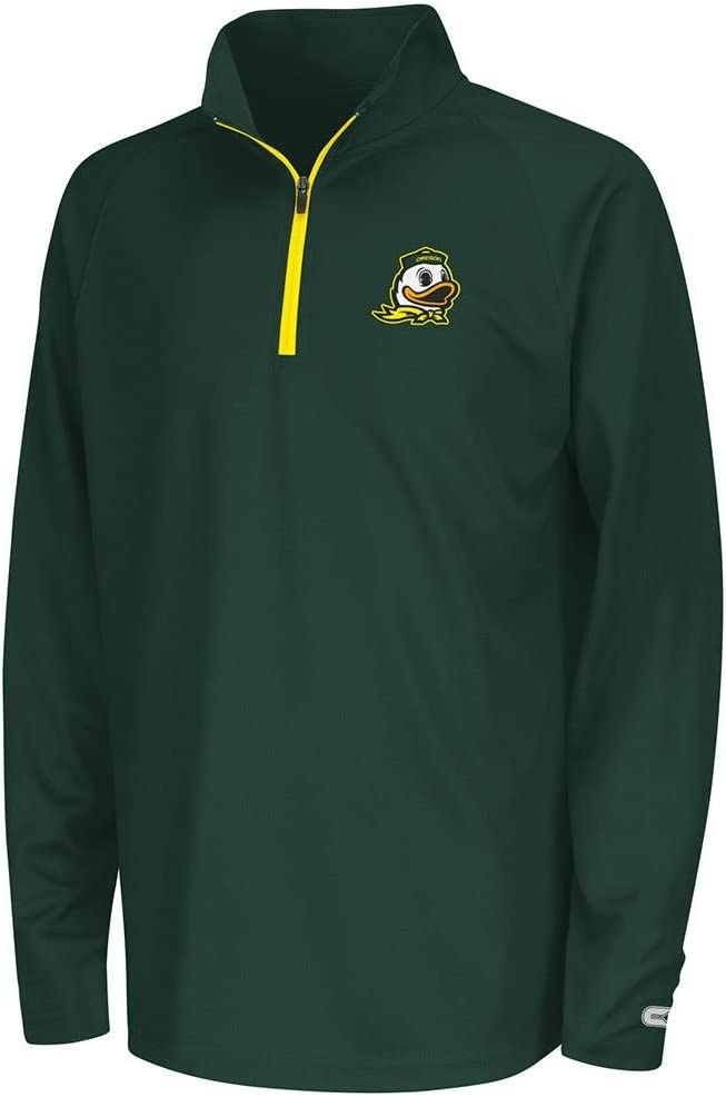 Colosseum Youth Oregon Ducks Quarter Zip Wind Shirt