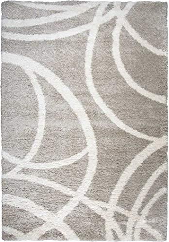 Rizzy Home Adana Collection Polypropylene Cream/Beige Circles Area Rug 5'3