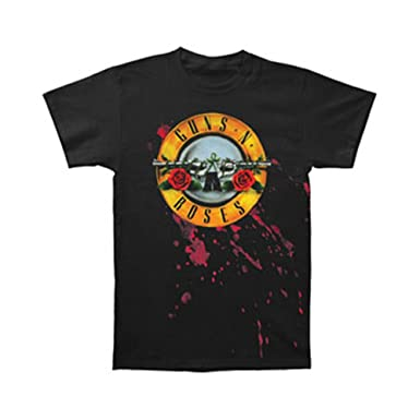94ff46c0b233 Amazon.com: Bravado Guns N Roses Bloody Bullet Lightweight T-Shirt ...