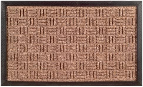 Imports Decor Synthetic Rubber Mat, 16-Inch by 24-Inch, Brown