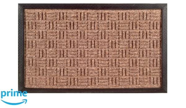 Brown 24-Inch by 36-Inch Imports Decor Synthetic Rubber Mat