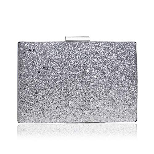 Cocktail color Fashion Wedding Party Multi Clutch Ladies Evening Bag For Sequin Silvery Gift Sparkly Handbag Yfpxw