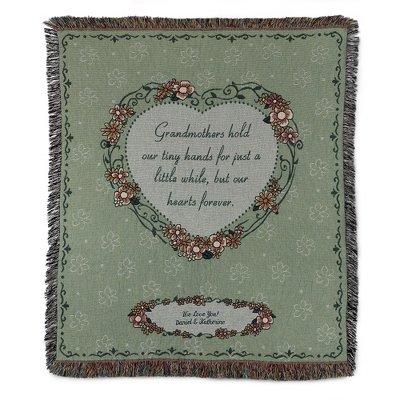personalized embroidered loving grandma throw blanket amazon co uk