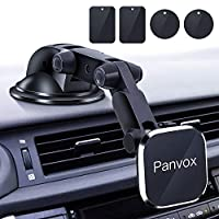 """Magnetic Phone Car Mount, Panvox Universal Dashboard Windshield Car Phone Mount Holder with Upgraded 3.2"""" Suction Cup,8 Strong Magnets Compatible with iPhone 11 Pro X XS Max XR Galaxy Note10 S10"""