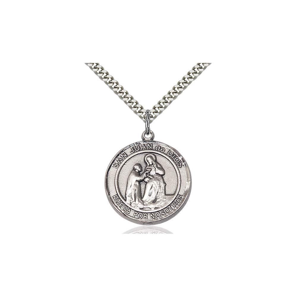 DiamondJewelryNY Sterling Silver San Juan de Dios Pendant