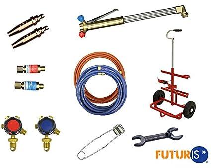 Futuris – – de oxígeno acetileno Gas Soldadura y corte Set/Kit & Cilindro Trolley