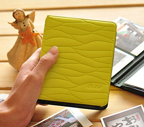 - [Fujifilm Instax Mini Photo Album] DEAHUN 64 Pockets Leaf Style Photo Album For Fujifilm Instax Mini 7s 8 25 50s 90/ Polaroid Z2300/ Polaroid PIC-300P Films & Name Cards (Lime Green)