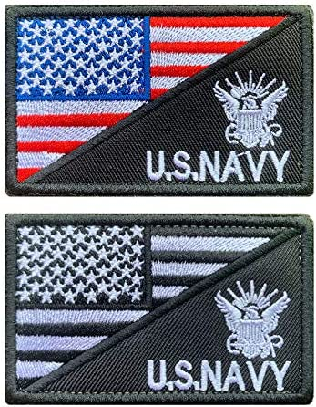 2X US Flag Tactical Patch American USA Hook /& Loop Army Military Uniform Patches