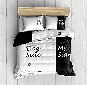 weaver bay dog side my side bedding set double duvet cover with 2 pillowcases. Black Bedroom Furniture Sets. Home Design Ideas