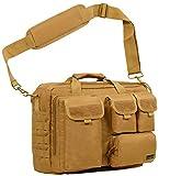 Seibertron Pro- Multifunction Mens Military Tactical Outdoor Shoulder Messenger Laptop Bag Handbags Briefcase Satchel Crossbody Sling Case Large Enough for 14.1'' 14.1-Inch 2 Years Warranty Khaki