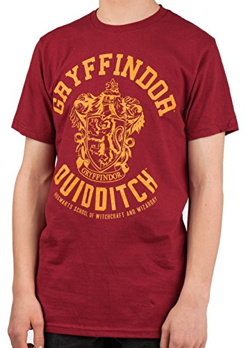 Harry Potter Gryffindor Quidditch Adult T-Shirt,Red,X-Large