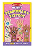Pink: My First Temporary Tattoos - 100+ Kid-Friendly Tattoos + FREE Melissa & Doug Scratch Art Mini-Pad Bundle [29469]