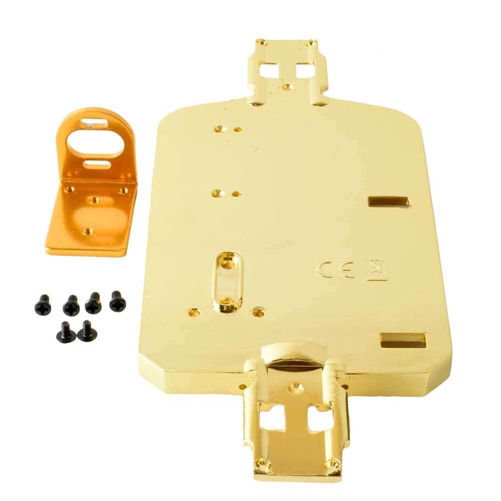 Toyoutdoorparts RC A580050 Gold Alloy Chassis + 380/390 Motor Mount Fit WLtoys 1:18 A949 A959