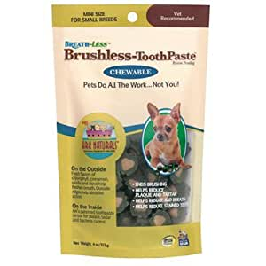 ARK NATURALS Products for Dogs Breathless Chewable Brushless Toothpaste, Mini, 4-ounce
