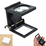 Double Eye Watch Repair Magnifier Loupe Jeweler Magnifying Glasses Tool Set With LED Light 10X 15X 20X 25X