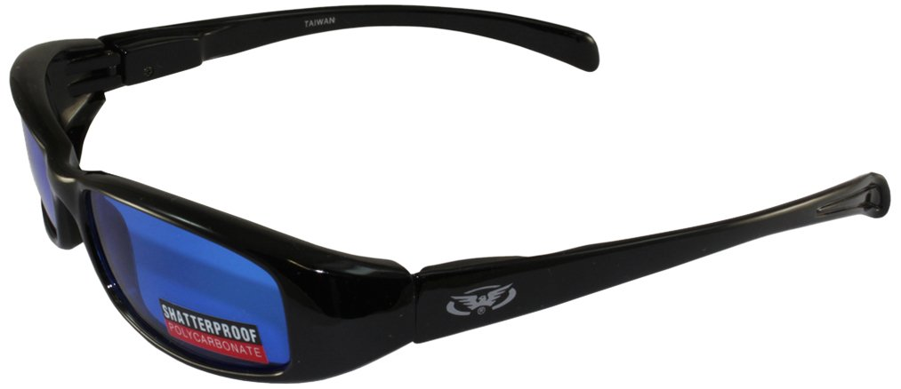 Global Vision Attitude Motorcycle Glasses (Black Flames Frame/Yellow Lens) ATTBKYT