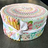 Lori Whitlock Sweet Baby Girl Rolie Polie 40 2.5-inch Strips Jelly Roll Riley Blake RP-8190-40