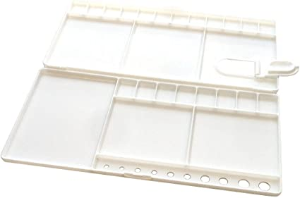 20 Wells Watercolor Palette Folding Paint Tray Open Flat Art Painting Pallet