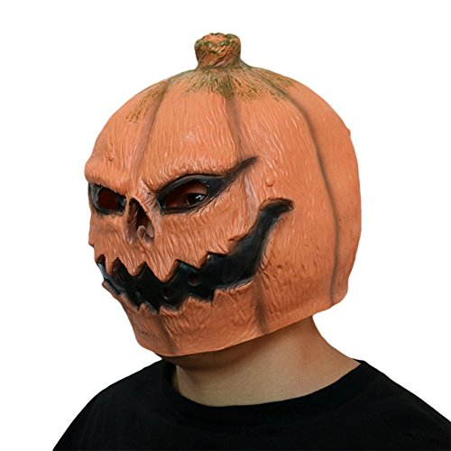 Cosplay Halloween Mask,Novelty Scary Latex Pumpkin Head Mask,Latex Pineapple Face Fruit Head Mask,Horror Costume (B) for $<!--$7.50-->