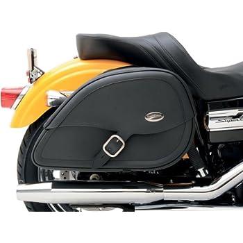 Saddlemen 3501-0459 Drifter Teardrop Saddlebag With Shock Cutaway