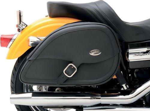 Saddlemen 3501-0459 Drifter Teardrop Saddlebag with Shock Cutaway ()