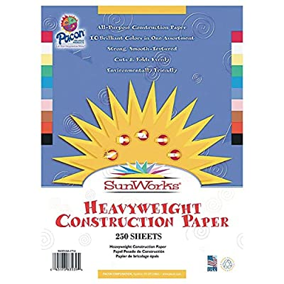 S and S Worldwide Sun Works and #174; Ground Wood Construction Paper 12