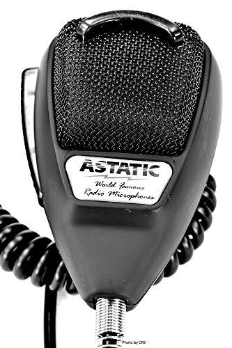 Astatic - 636L Noise Canceling 4-Pin CB Microphone, Rubberized Black BULK