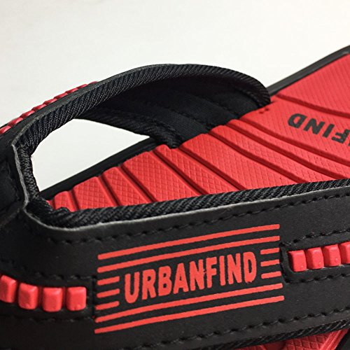 Thong Light Weight Slipper Flops Sandals Mens Flip Summer URBANFIND Red Classic 8wqPBXcxC