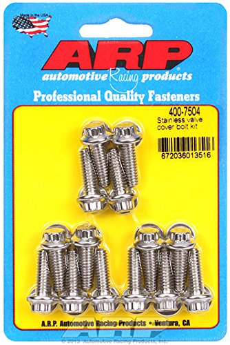 ARP 4007504 12-Point Style Valve Cover Bolts, Polished Stainless Steel, Package Of 14, For Select Cast Aluminum Covers