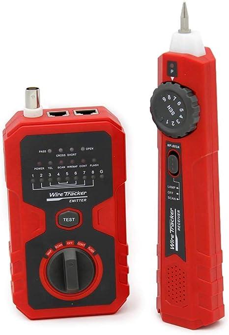 KOLSOL RJ11 RJ45 Cable Tracker Tester Cable de red Cable coaxial de teléfono con el LED indica: Amazon.es: Bricolaje y herramientas