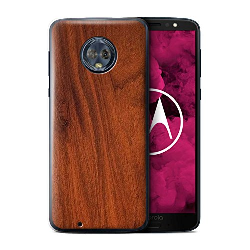- STUFF4 Phone Case/Cover for Motorola Moto G6 2018/Mahogany Design/Wood Grain Effect/Pattern Collection