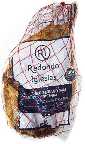 - Jamon Serrano - Roja - Boneless 12 Lb - 15 months aged - Dry cured Ham - Spain Gourmet Delicatessen - 1 unit