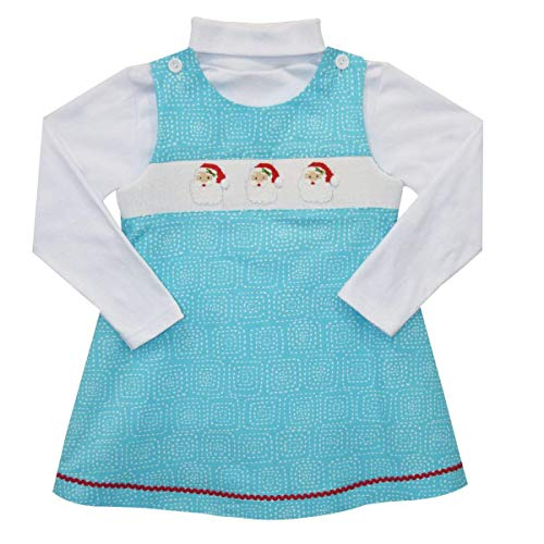 - Silly Goose Santa Face Smocked Jumper and Turtle Neck