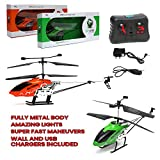 Wembley AMAZING Metal Body Flying Remote Control Helicopter with Lights, Battery & Charger (Multi Colour)