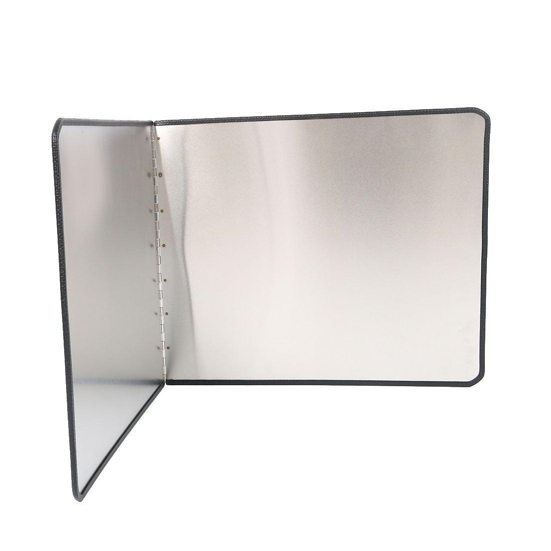 uxcell Oil Splash Guard, Stainless Steel Foldable Splatter Block for Frying Pan, Stove Shield, Kitchen Range Hood Wall Shield, 17.7'' x 15''(H) /45 x 38cm(H)