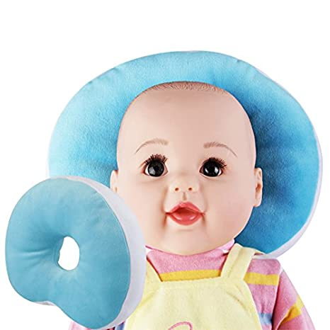 Blue KAKIBLIN Prevent Flat Head Pillow Anti Flat Head Pillow For Newborn