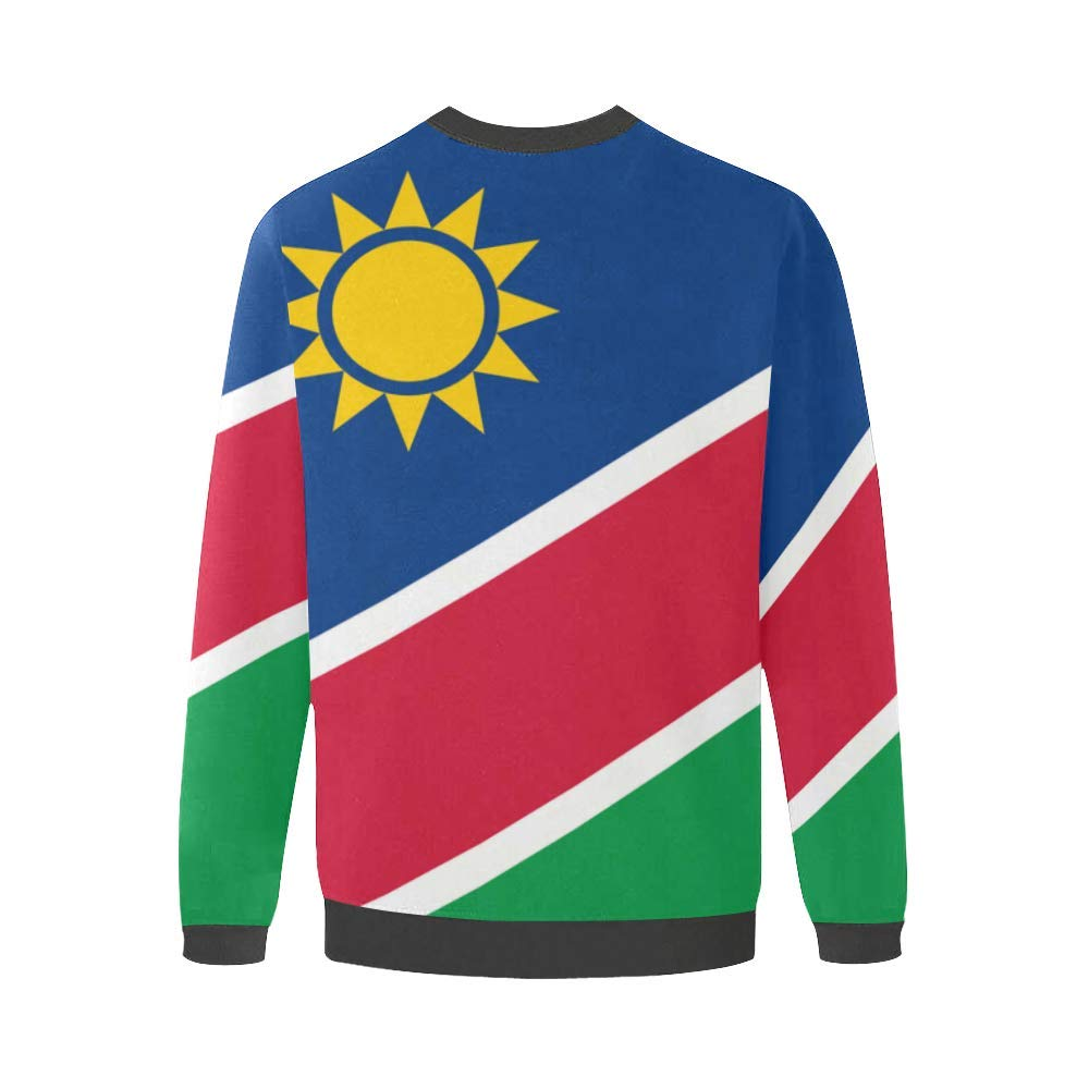 Namibia Flag Mens Fuzzy Pullover Sweatshirt