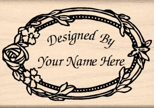 - Custom Made & Personalized - Designed by Rubber Stamp - 1-3/4 inches x 2-1/2 inches