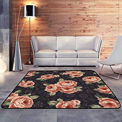 Rugs for Kitchen Floor,Rose patternW 55