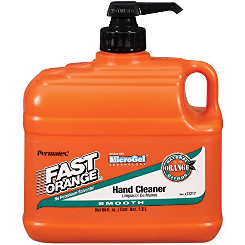 Permatex 23217 Fast Orange Smooth Lotion Hand Cleaner with Pump, 1/2 Gallon