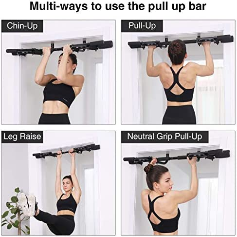 Komsurf Pull up Bar for Doorway, Door Pullup Chin up Bar Home, Multifunctional Portable Dip bar Fitness, Exercise Equipment Body Gym System No Screws Trainer 2