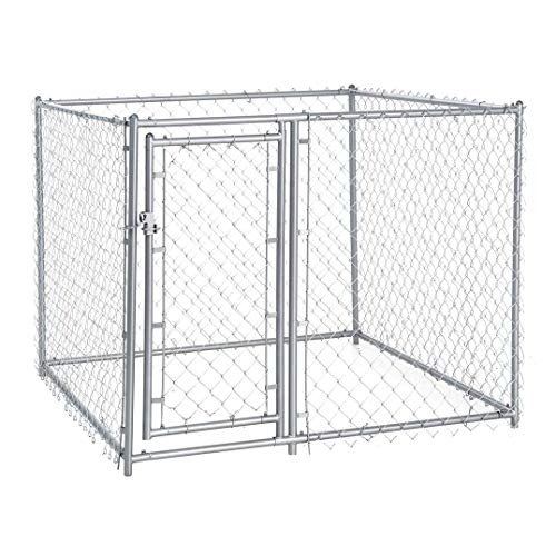 Lucky Dog Galvanized Chain Link Kennel (5' x 5' x 4') (Cheap Chain Link Dog Kennels For Sale)