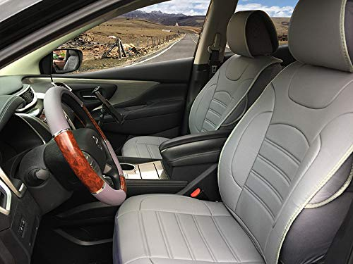 Durable Leather Like Vinyl Seat Cushion Covers for GMC Sierra 2007-2013 (Gray)