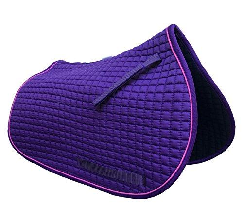 Purple Pony Saddle Pad | PRI Pacific Rim (Purple with Pink Trim)