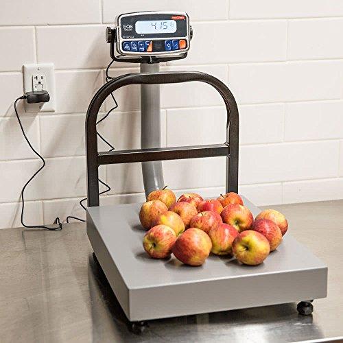 TableTop King EQB-I 100/200 200 lb. Digital Counter-Top Receiving Scale Silver King Countertop
