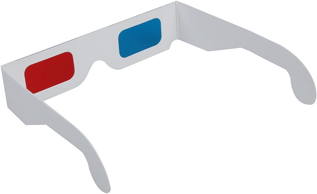 x 100 Gaoominy Rouge-Cyan Anaglyphe 3D Lunettes 3 Dimensions Bleu