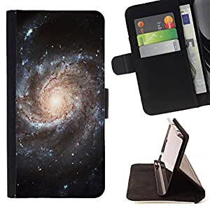- Space Night Nebula - - Monedero pared Design Premium cuero del tir?n magn?tico delgado del caso de la cubierta pata de ca FOR Samsung Galaxy Core Prime Funny House